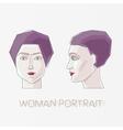Woman flat portrait vector image