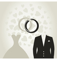 Wedding dress3 vector image vector image
