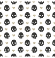 Seamless pattern with skulls and hearts Modern vector image