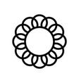 Premium flower logo icon design frame vector image
