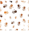 Seamless pattern of hand vector image vector image