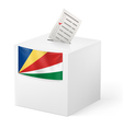 Ballot box with voting paper Seychelles vector image vector image