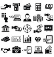 Finance money icons set vector image