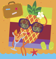 Pineapple vacations vector image