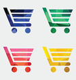 shopping cart icon Abstract Triangle vector image