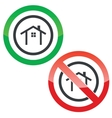 Cottage permission signs vector image