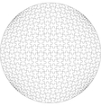 3d puzzle ball in color 21 vector image vector image