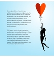 romantic background for text vector image