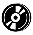 cd icon simple black style vector image