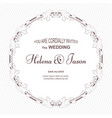 elegant round wedding frame executed in victorian vector image