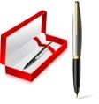 Gift pen vector image
