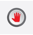 Hand open palm tool icon Cursor direction move vector image