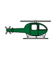 helicopter flat vector image