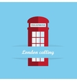 Red britain telephone box vector image