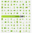 Set of ecology stickers vector image
