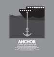Ship Cast Anchor vector image