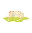 soccer goal cartoon vector image