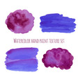 watercolor abstract design elements in violet and vector image