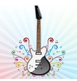 Background with electric guitar vector image