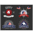 American Independence Day Badge Collection vector image