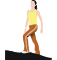 fitness training vector image vector image