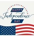 Happy Independence Day July 4th Fourth American vector image