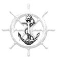 Anchor Hand drawn 2 vector image