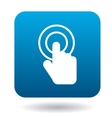 Click hand icon in simple style vector image