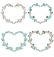 Floral frames in shape of heart vector image