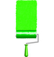 green roller vector image