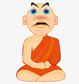 man buddhist in national cloth vector image