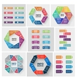 paper triangle stickers and labels with vector image