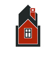 Simple house icon for graphic design mansion vector image