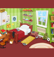 some kid or teenager bedroom vector image