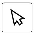 Arrow pointer sign vector image