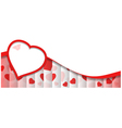 Abstract Background With Red Heart Shape vector image vector image