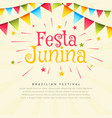 festa junina brazil festival holiday background vector image