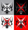 Tribal Wolf Emblem Tattoo for Big Motorcycle Biker vector image vector image