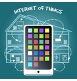 Internet of Things Concept with smart phone vector image