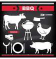 Barbecue design elements vector image