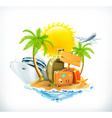Summer travel icon vector image