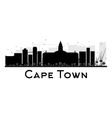 Cape Town silhouette vector image