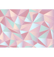 Abstract pastel triangles 3d background vector image