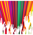 abstract voting hands vector image