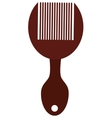 hair comb with handle vector image