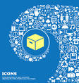 packaging cardboard box icon Nice set of vector image