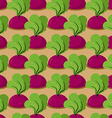 Beet seamless pattern Plantation beets with haulm vector image