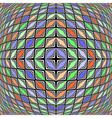 Design warped diamond geometric diagonal pattern vector image