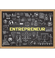 Entrepreneur on chalkboard vector image