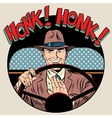 honk vehicle horn driver man vector image